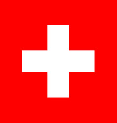 flag of switzerland flag with official vector image
