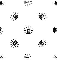 Flashing emergency light pattern seamless black vector