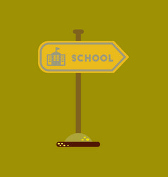 Flat icon on background school sign vector