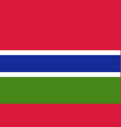 Gambia country flat style flag vector