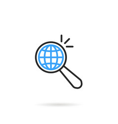 global search like thin line magnifying glass vector image