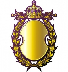gold badge vector image