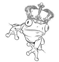 Green frog on white vector