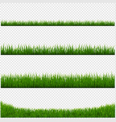 Green grass frame set and isolated transparent vector