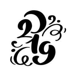 handwritting flourish calligraphy text 2019 vector image