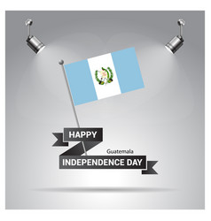 Happy indpendence day design card with flags vector