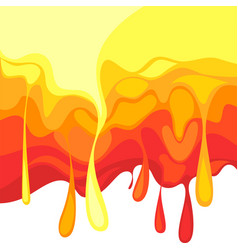 hot template falling hot drops splash fluid vector image
