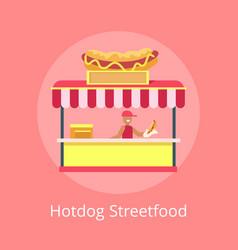 hotdog street food kiosk vector image