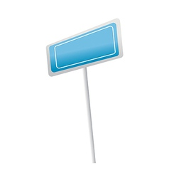icon sign board vector image
