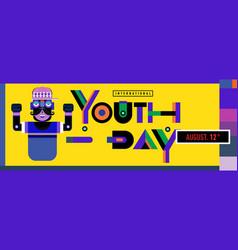 International youth day banner celebration vector