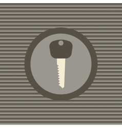 Key flat icon vector image