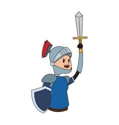 knight cartoon icon vector image
