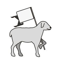 Lamb god symbol vector