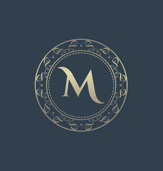 letters m luxury logo template vector image
