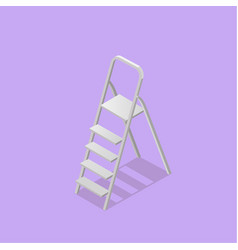 low poly isometric ladder vector image