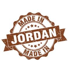 Made in jordan round seal vector
