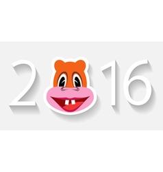 Monkey year vector image