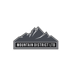 Mountain district ltd vector