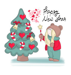 My new year merry christmas color vector