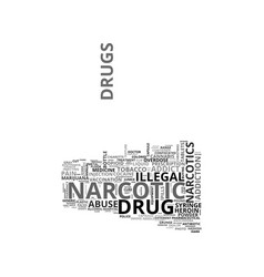 Narcotic word cloud concept vector