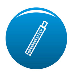 Old thermometer icon blue vector