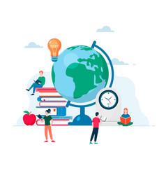 Online education modern flat design concept vector