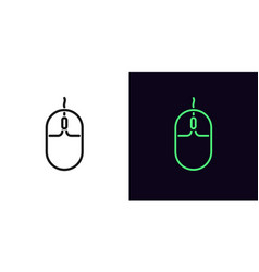 Outline computer mouse icon linear mouse sign vector