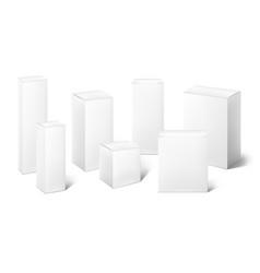 Paper box mockup realistic blank 3d carton vector