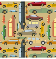 Passenger car background vector image