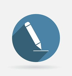 pen writing on a sheet Circle blue icon vector image