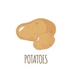 Potatoes icon in flat style on white background vector image