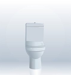 realistic illustration of toilet bowl vector image