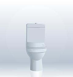 Realistic toilet bowl vector