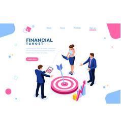 report of sales target vector image