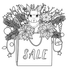 Sale coloring page vector
