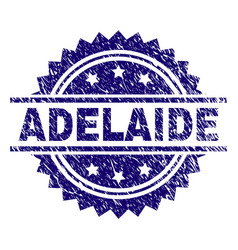 Scratched textured adelaide stamp seal vector