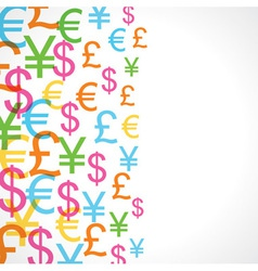 Seamless pattern background of currency signs vector