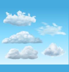 Set clouds vector