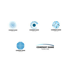 set of circular dot logo icon modern and dynamic vector image