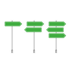 set signpost vector image