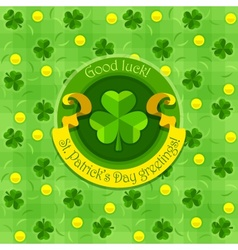 Shamrock symbol for saint vector image