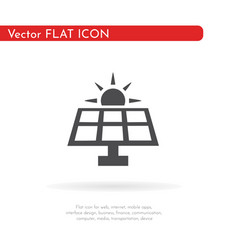 solar panel icon for web business finance and vector image
