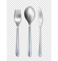 Stainless Cutlery Tableware Set Transparent vector