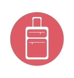 suitcase travel equipment pink button vector image