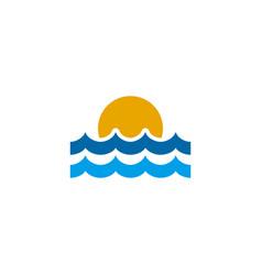 sun logo icon design template vector image