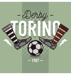 torino derin italian label design soccer boots vector image