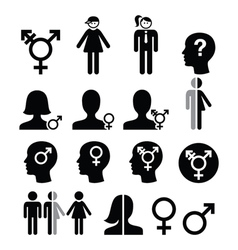 Transgender symbol gender dysphoria transsexual vector image