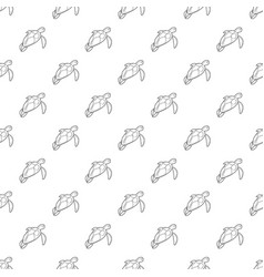 turtle pattern seamless vector image