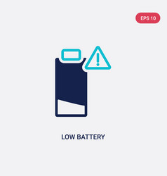 Two color low battery icon from electronic stuff vector