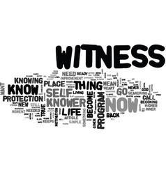 what does it mean to be the witness text word vector image